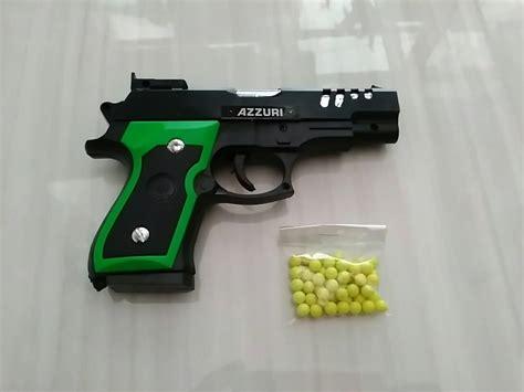 Airsoft Gun Peluru Plastik jual mainan pistol peluru azzuri airsoft gun ijo daun