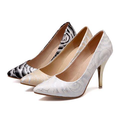 Flower Pattern Ladies Shoes | wholesale dress shoes women flower pattern high heel