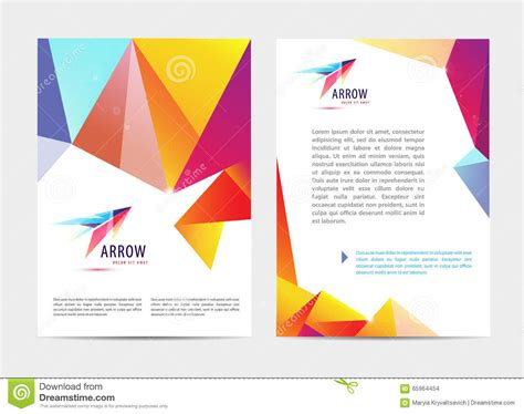 Business Letter Template With Logo vector document letter or logo style cover brochure and
