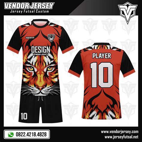 ilustrasi desain adalah desain jersey futsal tiger gambar macan vendor jersey