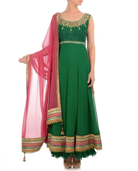 pista green color long anarkali suit panache haute couture green color long anarkali suit panache haute couture