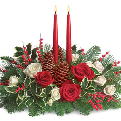 christmas centerpieces delivered wishes candle centerpiece t1271 florist delivery in chicago and suburbs