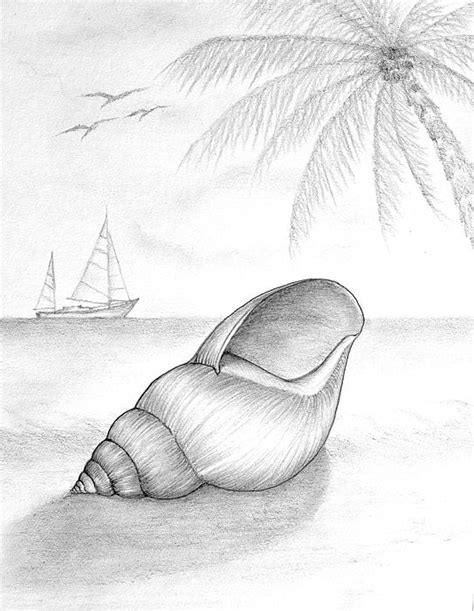 drawing drawing pencil drawing of beach scene by evelyn