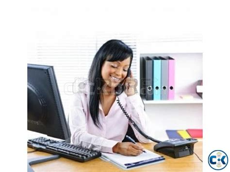 front desk officer receptionist clickbd