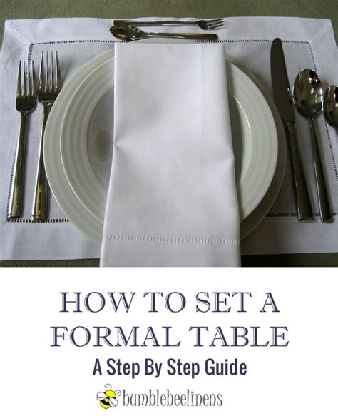 how to set a formal table how to set a formal table