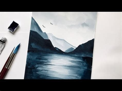 watercolor tutorial mountains mountain lake watercolor tutorial step by step easy