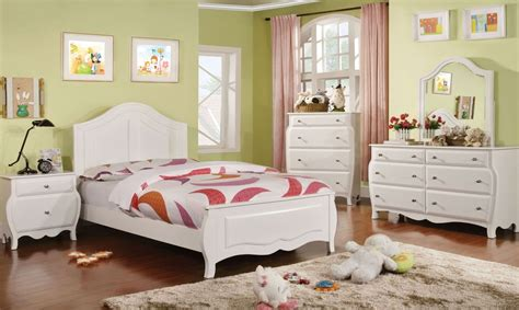 White Youth Bedroom Furniture by Roxana White Youth Panel Bedroom Set From Furniture Of