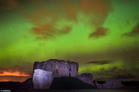 where are the northern lights visible northern lights seen as far south as oxfordshire thanks to