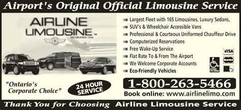 Airline Limousine by Airline Limousine Service Canpages