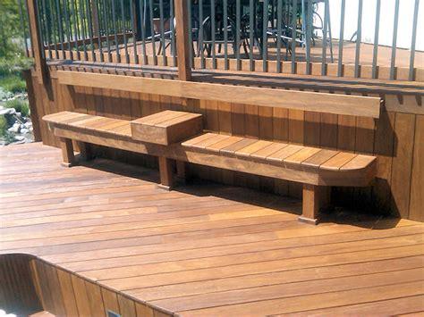 garden bench made from decking custom made decks using cedar composite materials brazilian hardwood or pressure