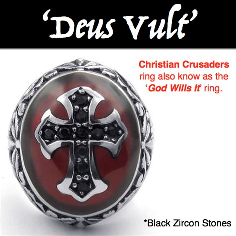 deus vult god wills it christian crusaders soldier