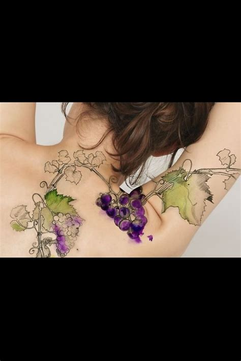 watercolor vine tattoos 17 best ideas about wine on piercing