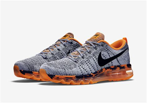 Nike Air Max Flyknit Total Orange nike flyknit air max premium wolf grey total orange