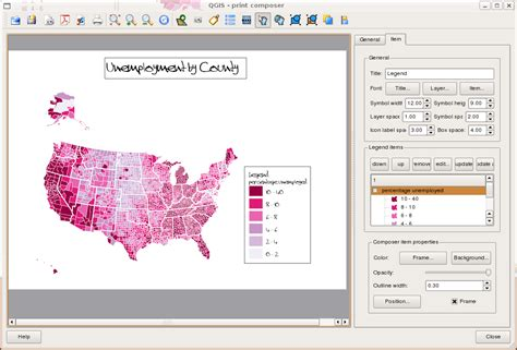 layout view in qgis barry rowlingson s geospatial blog choropleth mapping