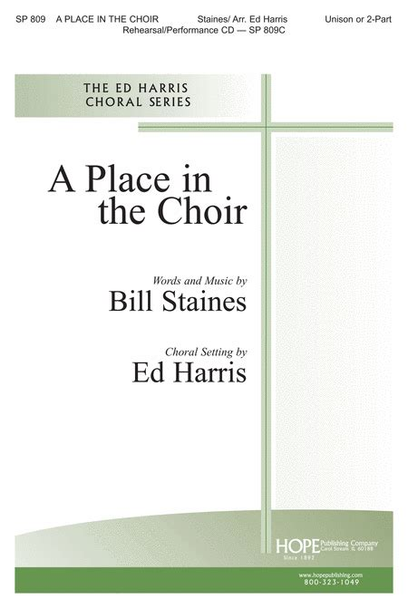 A Place Choir A Place In The Choir Sheet By Ed Harris Sheet Plus