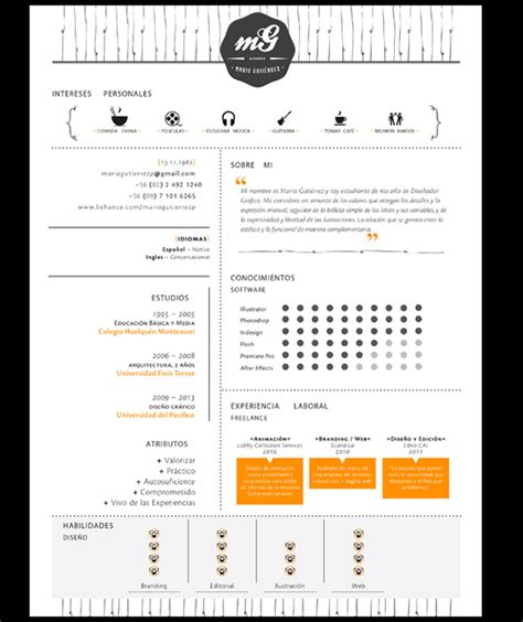 Plantillas De Curriculum Vitae Para Arquitectos 50 Ejemplos De Curr 237 Culums Originales