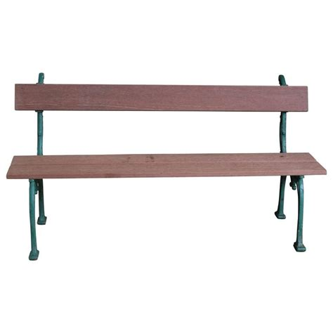french garden bench french garden bench with mahogany wood for sale at 1stdibs