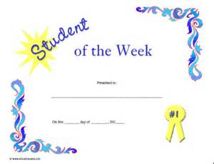 Student Of The Week Certificate Template Free by Certificates For Teachers Student Of The Week 4