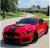 Roush 2015 Racecar Red Mustang With Black Double Stripes