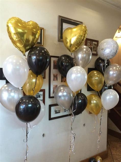 Black Gold Silver Decorations by 20 Engagement Balloon D 233 Cor Ideas To Try Shelterness