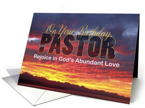 Pastor Birthday Card Pastor Birthday Sunset Card 1294056