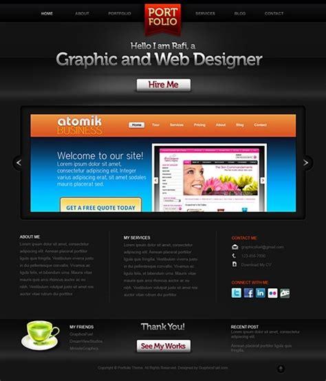 creative portfolio website psd template free psd in
