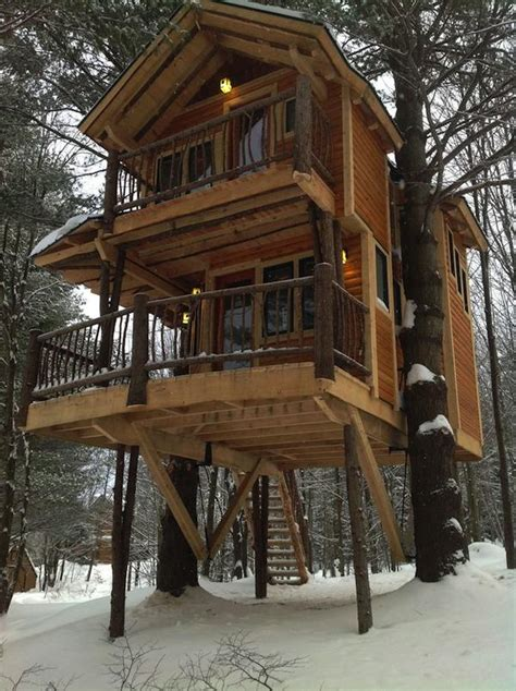 stay in a tiny house treehouse cabin you can stay in at moose meadow lodge
