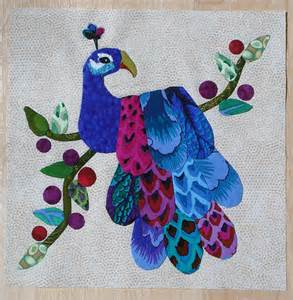 peacock applique quilt block 1st one flickr photo
