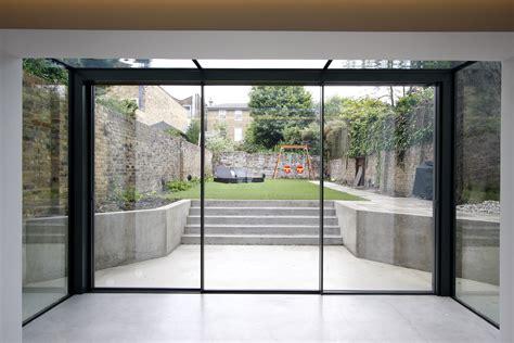 Large Glass Doors Residential Study Eton Villas Slim Frame Sliding Glass Doors Minimal View Of The Sightlines On