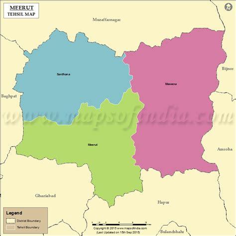 meerut on india map meerut tehsil map