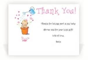 baby shower thank you notes unique baby shower favors ideas