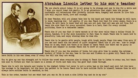 abraham lincoln letter to his s premaseem
