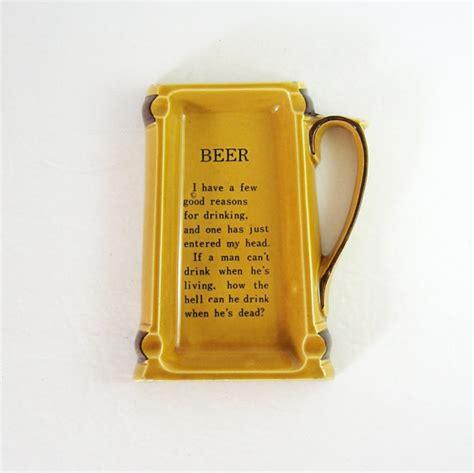 beer home decor vintage beer mug ceramic ashtray amber beer home decor
