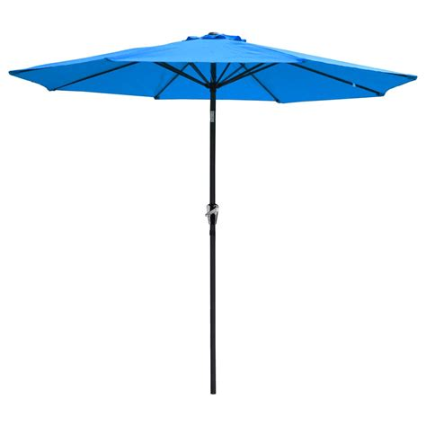Outside Patio Umbrellas 9 Ft Aluminum Outdoor Patio Umbrella Market Yard W Crank Tilt 4 Color