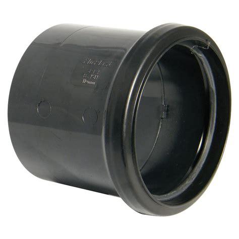 Bq Plumbing Fittings by Floplast Ring Seal Soil Coupling Dia 110mm Black
