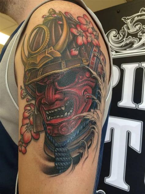 samurai mask tattoos designs ideas and meaning tattoos