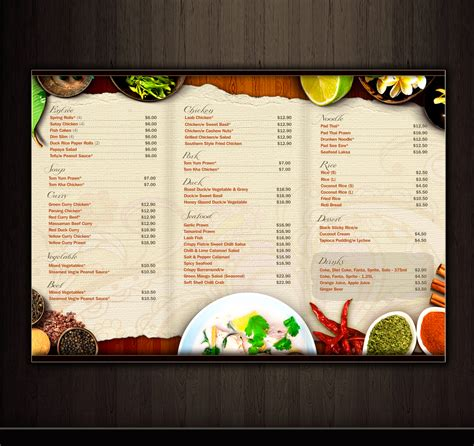 thai dinner menu ideas 1000 images about folders horeca on