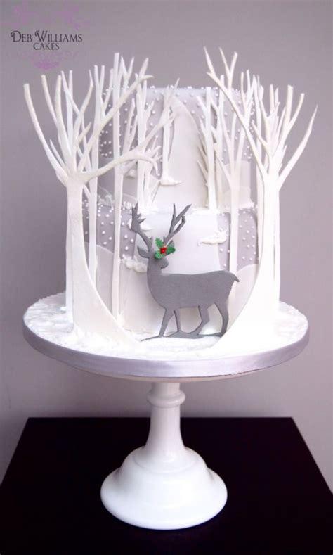 reindeer in a winter wonderland cake by deb williams