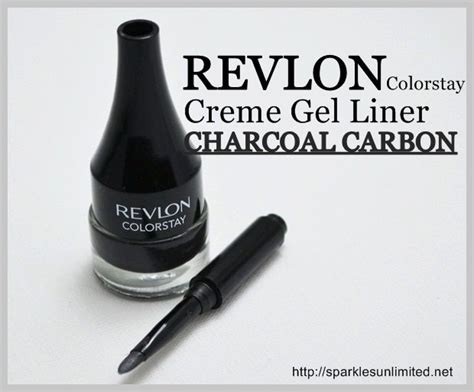 Revlon Eyeliner Gel revlon colorstay cr 232 me gel eyeliner charcoal carbon