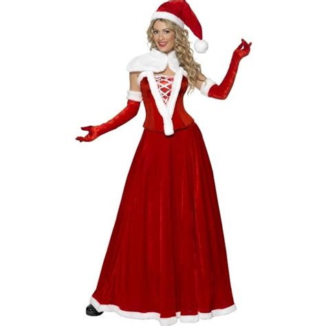 mrs claus luxury adult costume