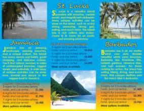 Island Brochure Template by Caribbean Island Travel Brochure Project On Behance