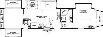 3 bedroom rv floor plan probity fifth wheel model 35qb4 bunkhouse 40 850 2