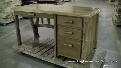 cedar lake log file desk cabin office furniture at jhe s