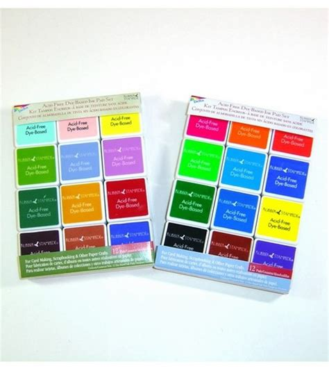 rubber ink sts rubber stede dye based ink pad sets jo