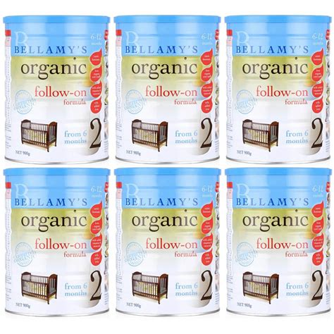 Bellamys Organic Follow On Formula 6 Month Made In Australia bellamy s organic follow on formula 900g 6 cans babyonline