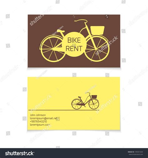 bicycle business card template business card vector template bicycle rent theme
