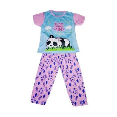 Stelan Anak Pink Panda Salur Ready jual baju tidur anak perempuan terbaru harga murah blibli