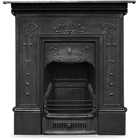 Nouveau Cast Iron Fireplace by Cast Iron Combination Fireplace Wm Boyle Interior
