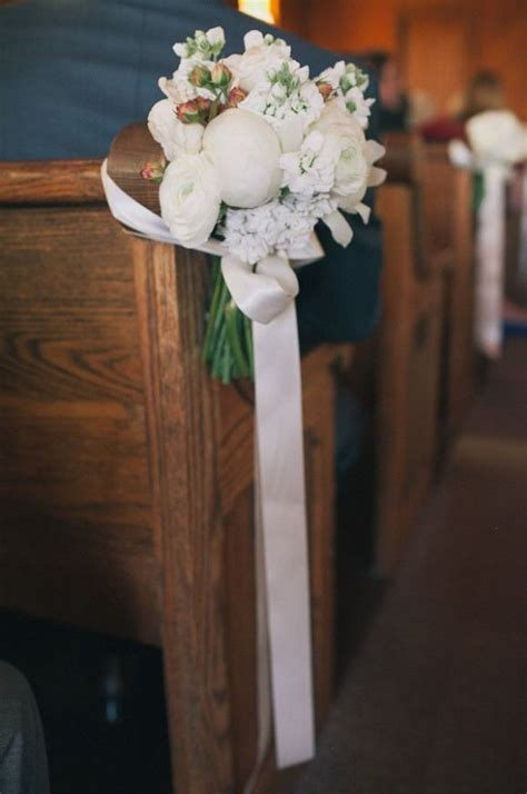 50 best Wedding Pew Decorations and Tutorials images on