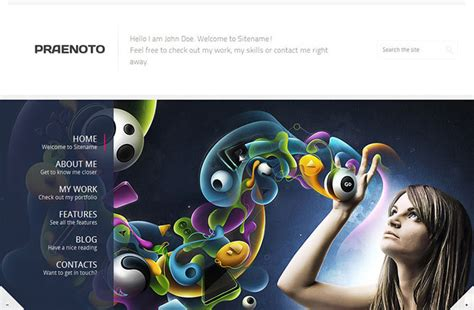 70 Cool Website Templates For Artists Photographers Designers Web Graphic Design Bashooka Cool Portfolio Templates